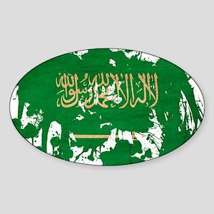 Saudi Arabia Flag Sticker (Oval)
