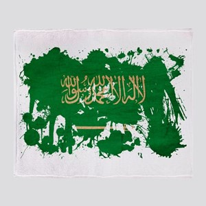 Saudi Arabia Flag Throw Blanket