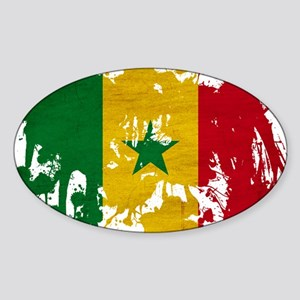 Senegal Flag Sticker (Oval)