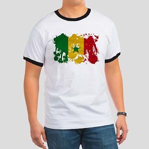 Senegal Flag Ringer T