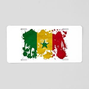Senegal Flag Aluminum License Plate