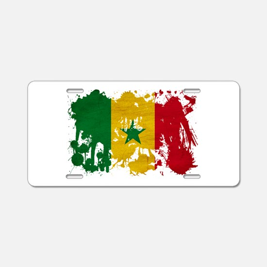 Senegal Flag Aluminum License Plate