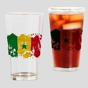 Senegal Flag Drinking Glass
