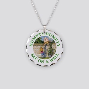 Humpty Dumpty Necklace Circle Charm
