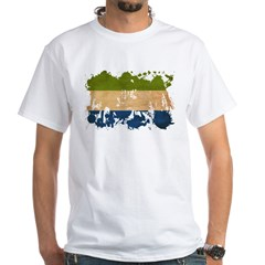 Sierra Leone Flag White T-Shirt