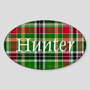 Tartan - Hunter Sticker (Oval)