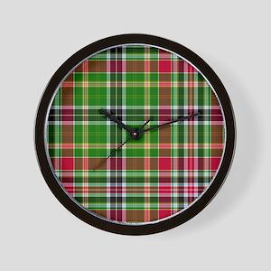 Tartan - Hunter Wall Clock