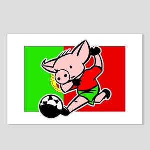 Portugal Soccer Pigs Postcards (Package of 8)