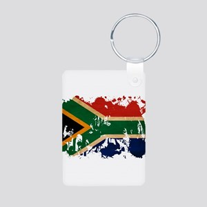 South Africa Flag Aluminum Photo Keychain