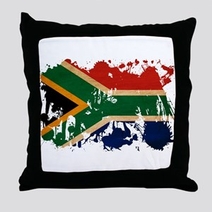 South Africa Flag Throw Pillow