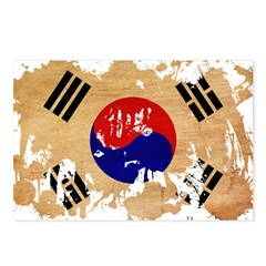 South Korea Flag Postcards (Package of 8)