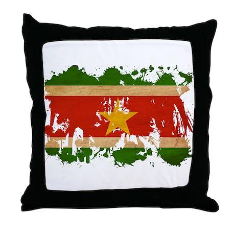 Suriname Flag Throw Pillow