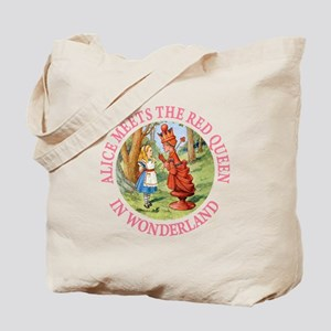 Alice Meets The Red Queen Tote Bag