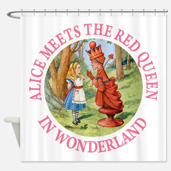 Alice Meets The Red Queen Shower Curtain