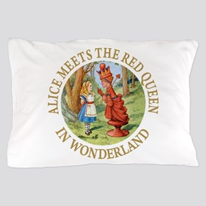 Alice Meets The Red Queen Pillow Case