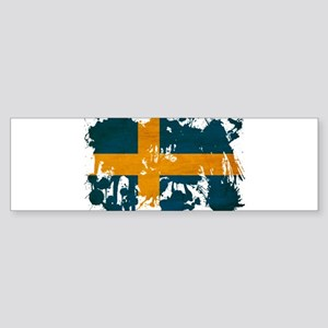 Sweden Flag Sticker (Bumper)