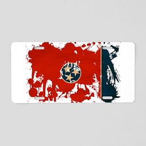 Tennessee Flag Aluminum License Plate