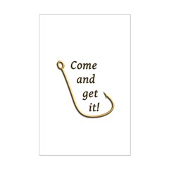Come and Get It Fish Mini Poster Print