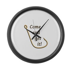 Come and Get It Fish Large Wall Clock