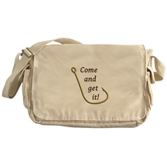 Come and Get It Fish Messenger Bag