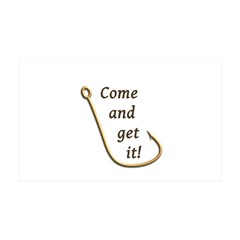 Come and Get It Fish 35x21 Wall Decal