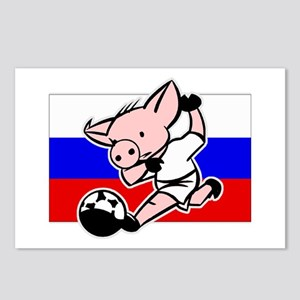 Russia Soccer Pigs Postcards (Package of 8)