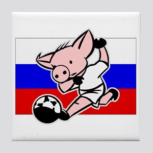 Russia Soccer Pigs Tile Coaster