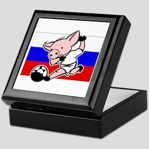 Russia Soccer Pigs Keepsake Box