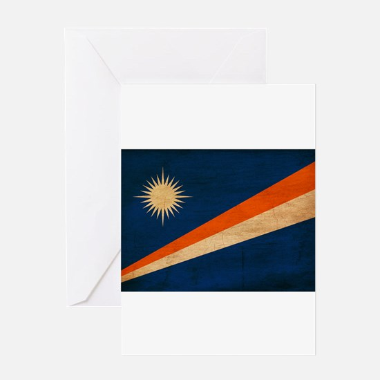 Marshall Islands Flag Greeting Card