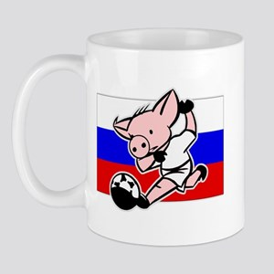 Russia Soccer Pigs Mug