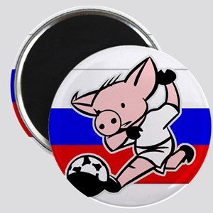 Russia Soccer Pigs Magnet