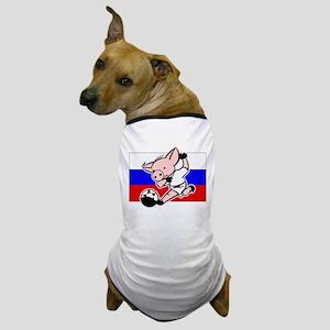 Russia Soccer Pigs Dog T-Shirt