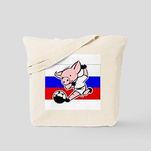 Russia Soccer Pigs Tote Bag