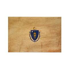 Massachusetts Flag Rectangle Magnet (100 pack)