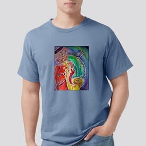 Music! Sax! Bright, fun art! Mens Comfort Colors S