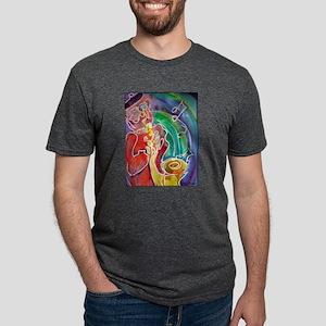 Music! Sax! Bright, fun art! Mens Tri-blend T-Shir