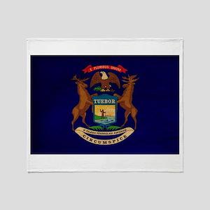 Michigan Flag Throw Blanket