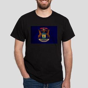 Michigan Flag Dark T-Shirt