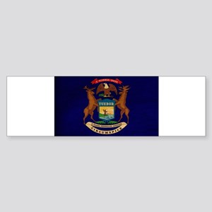 Michigan Flag Sticker (Bumper)