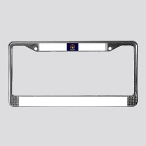 Michigan Flag License Plate Frame