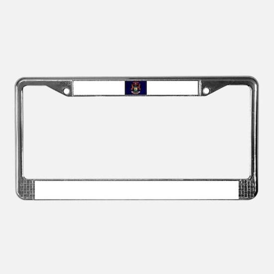 michigan flag license plate frame - Michigan State License Plate Frame
