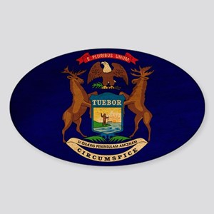 Michigan Flag Sticker (Oval)