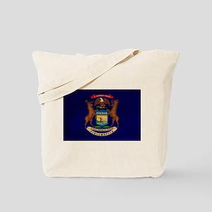 Michigan Flag Tote Bag