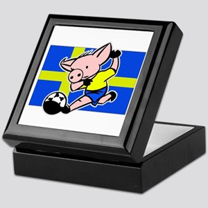 Sweden Soccer Pigs Keepsake Box
