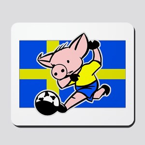 Sweden Soccer Pigs Mousepad