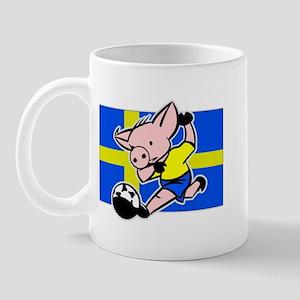 Sweden Soccer Pigs Mug