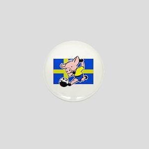 Sweden Soccer Pigs Mini Button