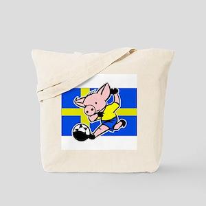 Sweden Soccer Pigs Tote Bag