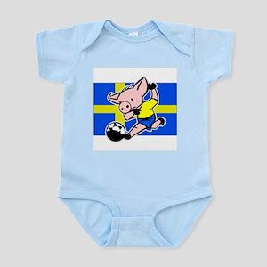 Sweden Soccer Pigs Infant Creeper
