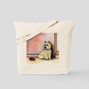 "Cairn Terrier ""Waiting"" Tote Bag"
